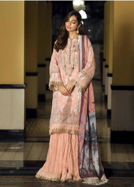 Asim Jofa Embroidered Lawn Unstitched 3 Piece Suit AJ20LL 5A - Luxury Collection