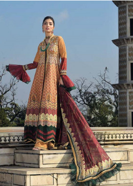 Asim Jofa Embroidered Lawn Unstitched 3 Piece Suit AJ20LL 6A - Luxury Collection