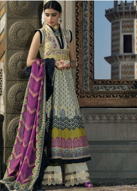 Asim Jofa Embroidered Lawn Unstitched 3 Piece Suit AJ20LL 6B - Luxury Collection