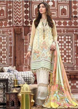 Asim Jofa Embroidered Lawn Unstitched 3 Piece Suit AJ20LL 7B - Luxury Collection