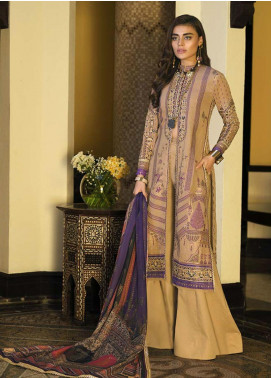Asim Jofa Embroidered Lawn Unstitched 3 Piece Suit AJ20LL 8B - Luxury Collection