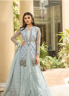 Asim Jofa Embroidered Organza Unstitched 3 Piece Suit AJ19O 1 - Luxury Collection