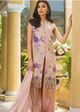 Asim Jofa Embroidered Organza Unstitched 3 Piece Suit AJ19O 10 - Luxury Collection