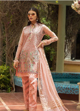 Asim Jofa Embroidered Organza Unstitched 3 Piece Suit AJ19O 2 - Luxury Collection