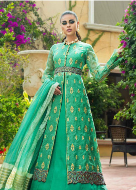 Asim Jofa Embroidered Organza Unstitched 3 Piece Suit AJ19O 6 - Luxury Collection