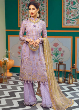 Asim Jofa Embroidered Missouri Unstitched 3 Piece Suit AJ19C 04 - Wedding Collection