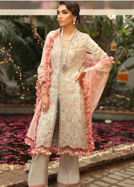 Asim Jofa Embroidered Cotton Net Unstitched 3 Piece Suit AJ19SE 1 - Festive Collection