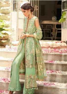 Asim Jofa Embroidered Cotton Net Unstitched 3 Piece Suit AJ19SE 4 - Festive Collection