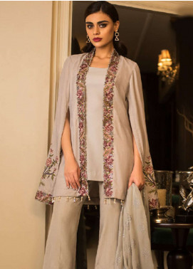 Asim Jofa Handwork Embroidered Velvet Unstitched 3 Piece Suit AJ18V 06 - Luxury Winter Collection