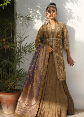 Asim Jofa Embroidered Organza Unstitched 3 Piece Suit AJ19Z 07 - Luxury Collection