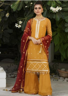 Asim Jofa Embroidered Silk Unstitched 3 Piece Suit AJ19Z 08 - Luxury Collection