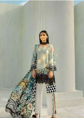 AUJ Embroidered Lawn Unstitched 3 Piece Suit AUJ18L 04 - Spring / Summer Collection