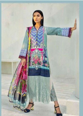 AUJ Embroidered Lawn Unstitched 3 Piece Suit AUJ18L 13 - Spring / Summer Collection