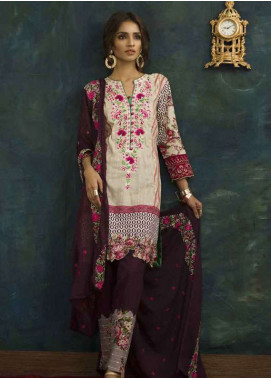 Ayesha Chottani Embroidered Lawn Unstitched 3 Piece Suit AYC18L ST-1A - Spring / Summer Collection