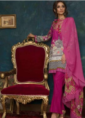 Ayesha Chottani Embroidered Lawn Unstitched 3 Piece Suit AYC18L ST-3B - Spring / Summer Collection