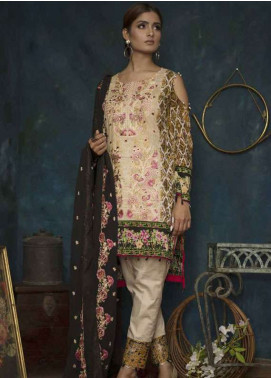Ayesha Chottani Embroidered Lawn Unstitched 3 Piece Suit AYC18L ST-6B - Spring / Summer Collection