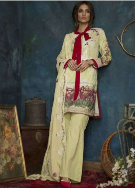 Ayesha Chottani Embroidered Lawn Unstitched 3 Piece Suit AYC18L ST-8B - Spring / Summer Collection
