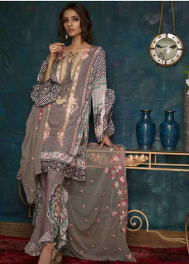 Ayesha Chottani Embroidered Lawn Unstitched 3 Piece Suit AYC18L ST-9A - Spring / Summer Collection
