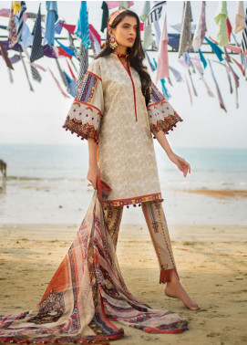 Ayesha Ibrahim by ZS Embroidered Lawn Unstitched 3 Piece Suit AI19L 01 BELLA - Spring / Summer Collection