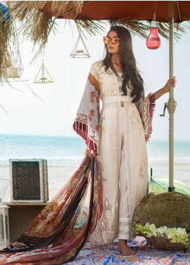 Ayesha Ibrahim by ZS Embroidered Lawn Unstitched 3 Piece Suit AI19L 08 DAISY - Spring / Summer Collection
