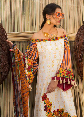 Ayesha Ibrahim by ZS Embroidered Lawn Unstitched 3 Piece Suit AI19L 09 DAHLIA - Spring / Summer Collection