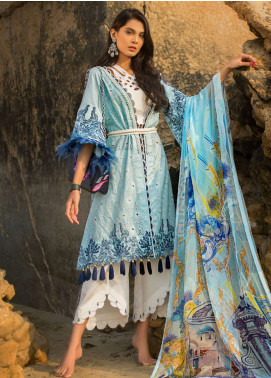 Ayesha Ibrahim by ZS Embroidered Lawn Unstitched 3 Piece Suit AI19L 12 LUXE - Spring / Summer Collection