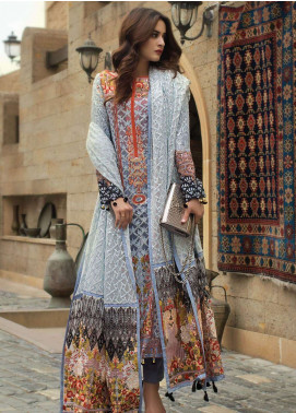 Ayesha Ibrahim by ZS Embroidered Chiffon Unstitched 3 Piece Suit AYI18C Nur - Luxury Collection