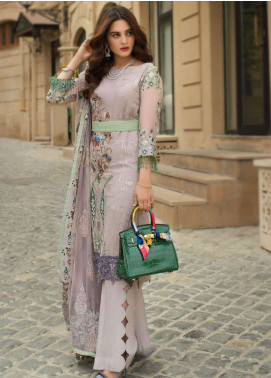 Ayesha Ibrahim by ZS Embroidered Chiffon Unstitched 3 Piece Suit AYI18C Omur - Luxury Collection