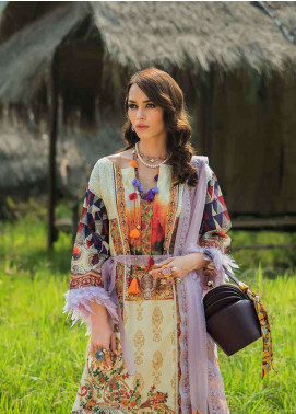 Ayesha Ibrahim by ZS Embroidered Lawn Unstitched 3 Piece Suit AYI18L 02 - Spring / Summer Collection