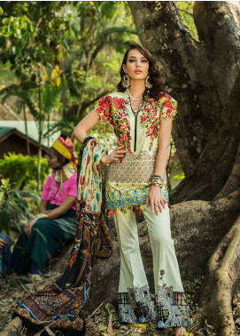 Ayesha Ibrahim by ZS Embroidered Lawn Unstitched 3 Piece Suit AYI18L 08 - Spring / Summer Collection