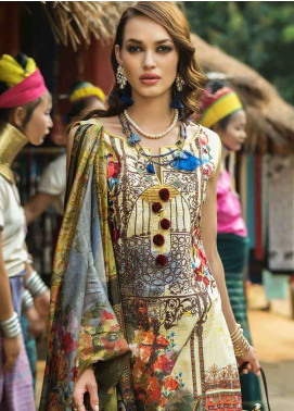 Ayesha Ibrahim by ZS Embroidered Lawn Unstitched 3 Piece Suit AYI18L 11 - Spring / Summer Collection