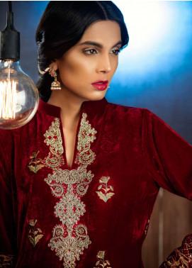 Azalea Embroidered Velvet Unstitched Kurti AZA18SW 03 - Festive Collection