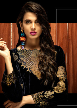 Azalea Embroidered Velvet Unstitched Kurti AZA18SW 04 - Festive Collection
