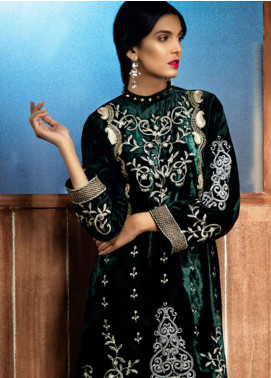 Azalea Embroidered Velvet Unstitched Kurti AZA18SW 05 - Festive Collection