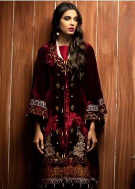 Azalea Embroidered Velvet Unstitched Kurti AZA18SW 06 - Festive Collection