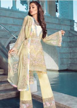 Azalea by Rang Rasiya Embroidered Chiffon Unstitched 3 Piece Suit RR19AZ 1401 - Luxury Collection