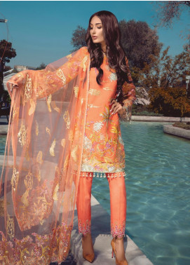 Azalea by Rang Rasiya Embroidered Organza Unstitched 3 Piece Suit RR19AZ 1402 - Luxury Collection