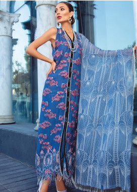 Azalea by Rang Rasiya Embroidered Chiffon Unstitched 3 Piece Suit RR19AZ 1403 - Luxury Collection