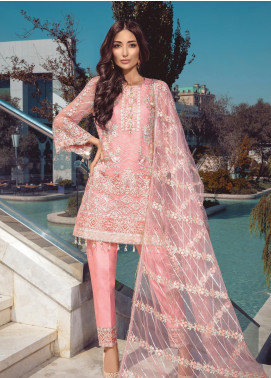 Azalea by Rang Rasiya Embroidered Organza Unstitched 3 Piece Suit RR19AZ 1405 - Luxury Collection