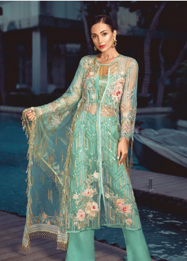 Azalea by Rang Rasiya Embroidered Net Unstitched 3 Piece Suit RR19AZ 1408 - Luxury Collection