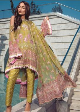 Azalea by Rang Rasiya Embroidered Chiffon Unstitched 3 Piece Suit RR19AZ 1409 - Luxury Collection