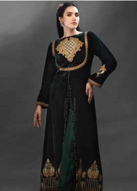 Azalea Embroidered Velvet Unstitched Kurties AZA19WF 05 - Winter Collection