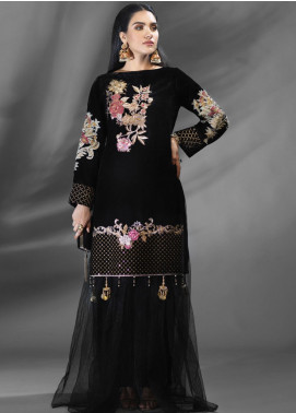 Azalea Embroidered Velvet Unstitched Kurties AZA19WF 06 - Winter Collection