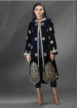 Azalea Embroidered Velvet Unstitched Kurties AZA19WF 07 - Winter Collection