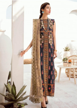 Azalea Embroidered Lawn Unstitched 3 Piece Suit AZA20L D 02 - Spring / Summer Collection