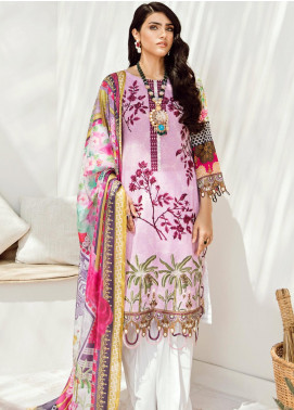 Azalea Embroidered Lawn Unstitched 3 Piece Suit AZA20L D 03 - Spring / Summer Collection