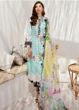 Azalea Embroidered Lawn Unstitched 3 Piece Suit AZA20L D 04 - Spring / Summer Collection