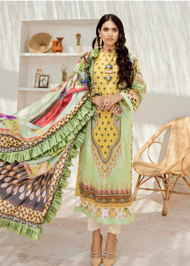 Azalea Embroidered Lawn Unstitched 3 Piece Suit AZA20L D 07 - Spring / Summer Collection