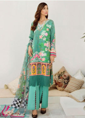 Azalea Embroidered Lawn Unstitched 3 Piece Suit AZA20L D 08 - Spring / Summer Collection