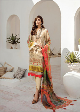 Azalea Embroidered Lawn Unstitched 3 Piece Suit AZA20L D 09 - Spring / Summer Collection